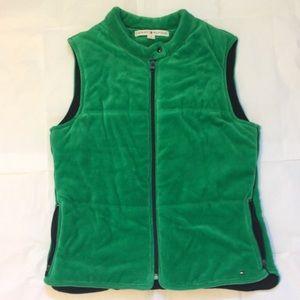 bf41c3a31086a Tommy Hilfiger zip up puffy vest green logo medium
